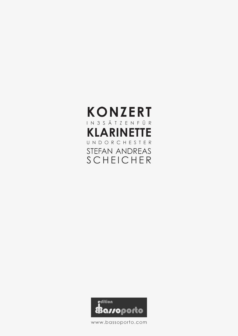Musiknoten für Klarinette und Orchester